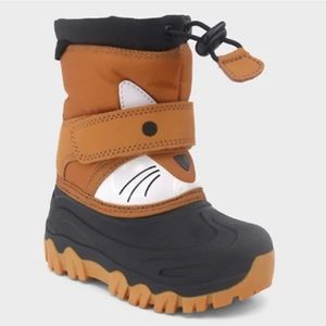 LIKE NEW  Cat & Jack Thermolite Fox  snow boots